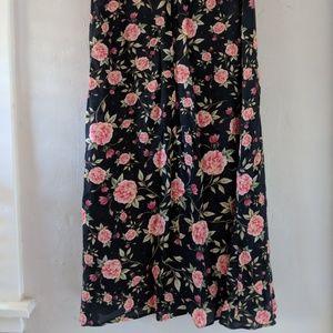 ZARA Women Midi Floral Skirt Grunge / Romantic Sml